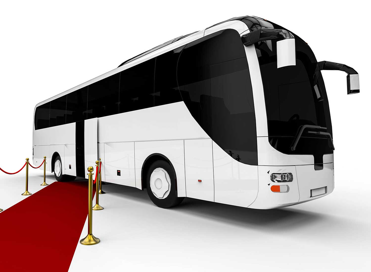 St Petersburg Party Buses - Photo of a bus with a red carpet in front
